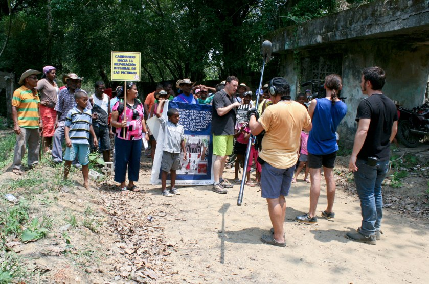 Documentary making in Mampujan. As far as I know, no one is the community has seen the end result.