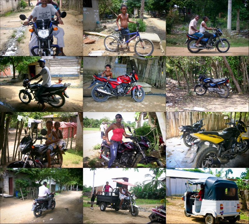 New motorcycles in Mampujan