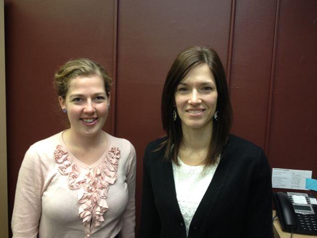 Jenn Wiebe and myself at the Ottawa office