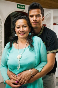 Reinaldo and his biggest fan, his mother.